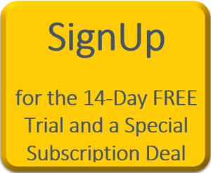 "Click on ""SignUp"" for the 14-Day FREE Trial and get access to ALL the modules and a Special Subscription Deal"