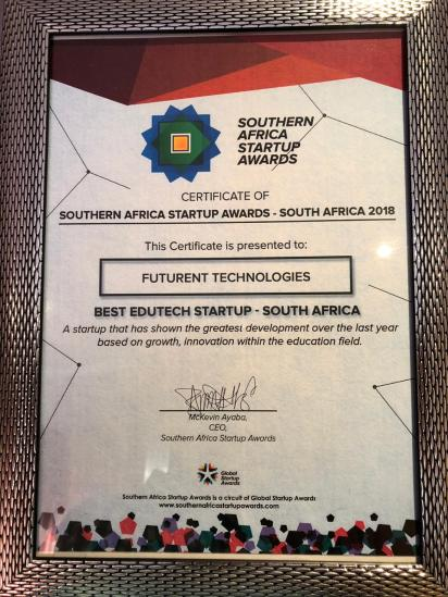 Southern Africa StartUp Awards Best EduTech StartUp South Africa 2018